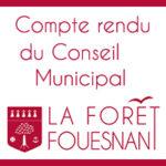 <strong>Compte-rendu Conseil Municipal du 18 février 2021</strong>